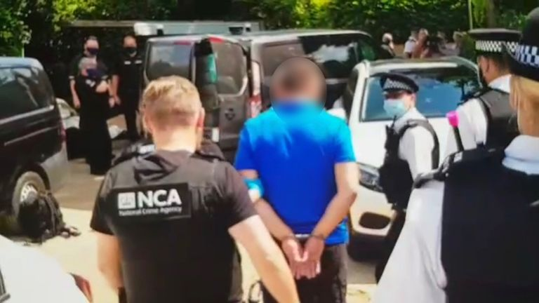 A man was arrested in Purley as part of an NCA investigation into a people-smuggling ring. Pic: NCA