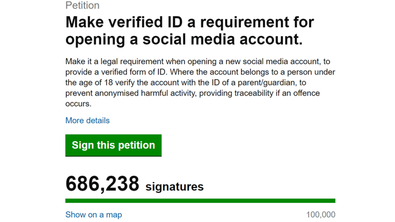 The petition had just over 100,000 signatures on morning after the game.