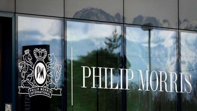 International headquarters of the US tobacco company Philip Morris, in Lausanne, Switzerland. Pic: AP