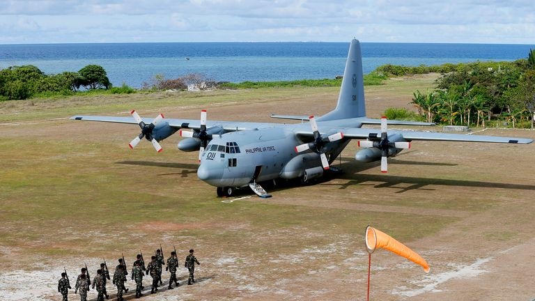 The C-130 military plane crashed after missing the runway