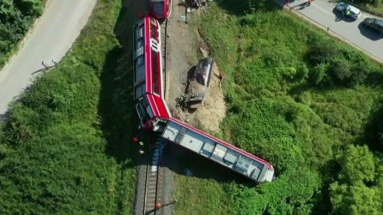 Berlin-bound train partly derails in Poland