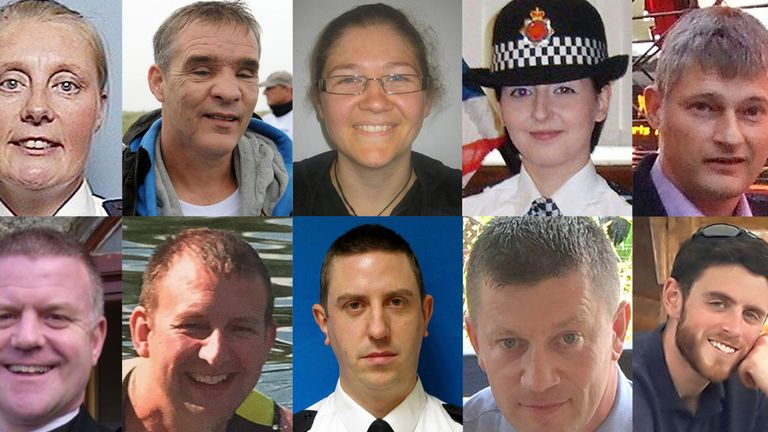 Some of the officers who have died while on duty