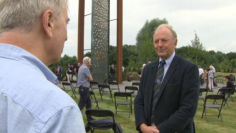 Former Chief Constable Sir Hugh Order said the memorial will ensure the memory of those officer who lost their lives on the line of duty