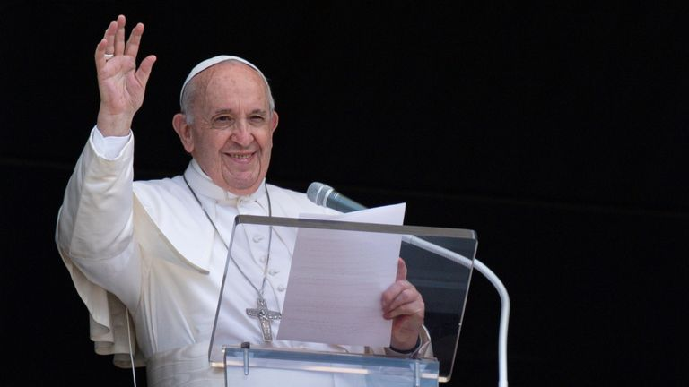 Pope Francis waved to crowds on Sunday before his surgery