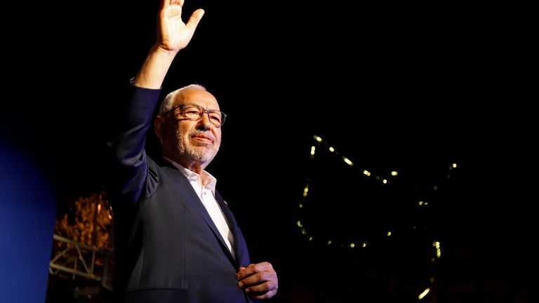 Rached Ghannouchi is leader of Tunisia's moderate Islamist Ennahda party. File pic