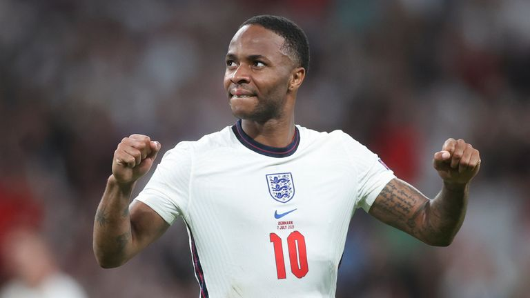 Raheem Sterling has been a potent attacking threat for England