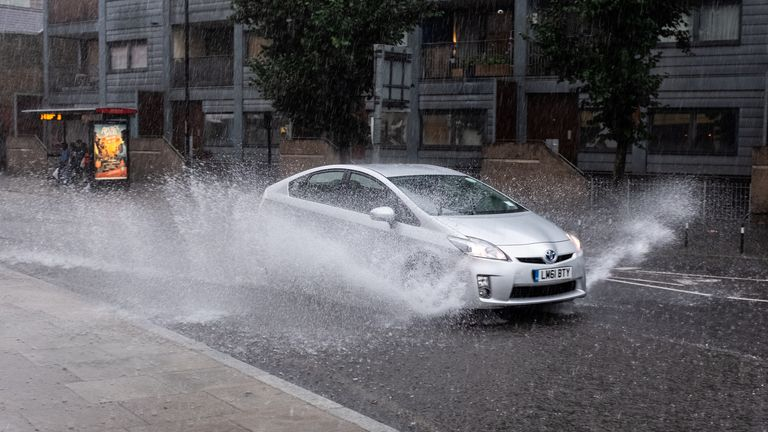 Heavy rain could cause hazardous conditions for drivers