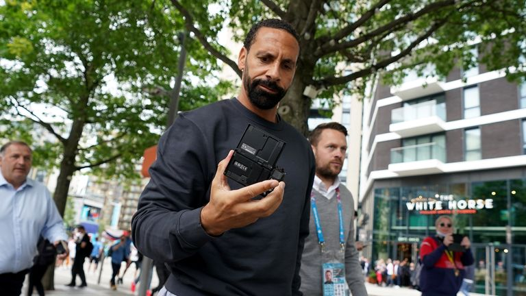 Rio Ferdinand arriving at Wembley for England's Euro 2020 round of 16 match against Germany last month