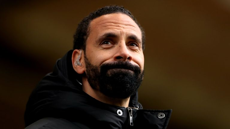 Rio Ferdinand seen during the Premier League match at Molineux in May, where a man is accused of racially abusing him