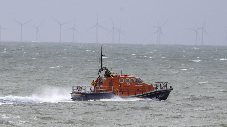 FILE A RNLI lifeboat continues it search for the missing two fishermen that went missing near Seaford, Sussex, after their fishing boat, Joanna C, sank off the coast near Seaford, East Sussex on Saturday.