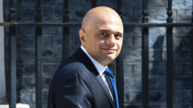 The Rt Hon Sajid Javid MP Secretary of State for Health and Social Care leaving No10 this morning 16/07/21