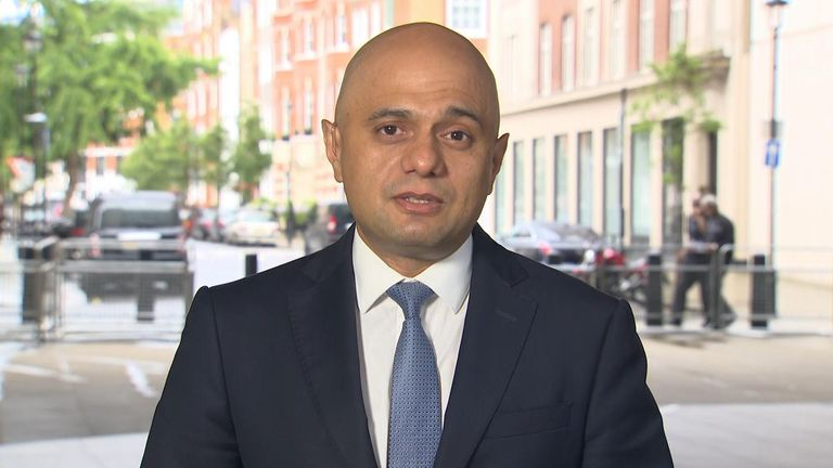 Mr Javid also said other health problems that have built up 'need to be treated as a priority - it cannot just be about COVID'.