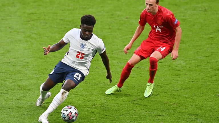 Bukayo Saka has been on England's stand-out performers in Euro 2020