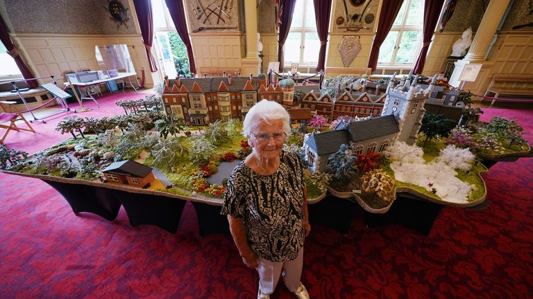 The creation is on display in the Ballroom of Sandringham House