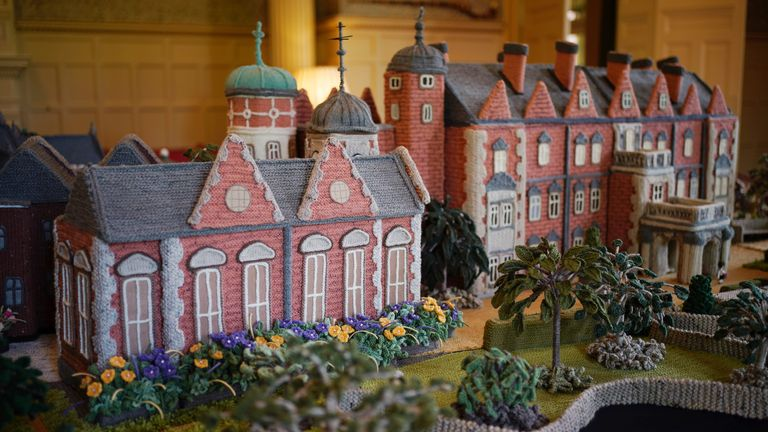 'Knitted Sandringham' took Mrs Seaman two years to make