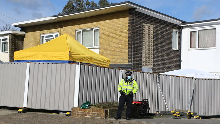 File photo dated 14/03/2021 of police outside the home of Wayne Couzens, in Freemens Way in Deal, Kent, after a body found hidden in woodland in Ashford was identified as that of 33-year-old Sarah Everard. Metropolitan Police officer Wayne Couzens, 48, has pleaded guilty at the Old Bailey in London to the murder of Sarah Everard. Issue date: Friday July 9, 2021.