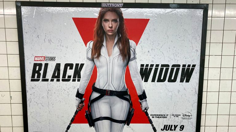 """Actress Scarlett Johansson is suing Walt Disney Studios over the streaming release of """"Black Widow"""". Pic: zz/STRF/STAR MAX/IPx/AP"""