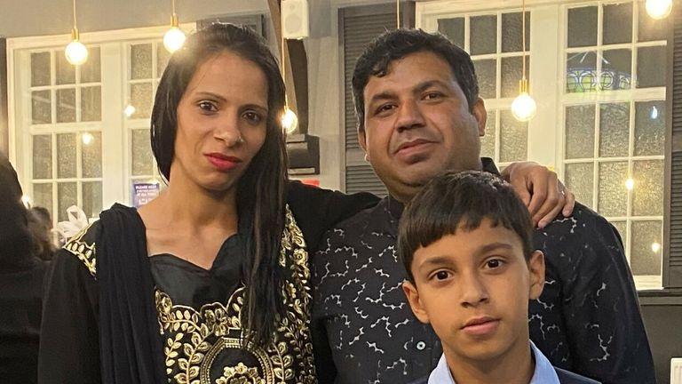 Waris Ali and his wife Edina Olahova and their son Rana Haris Ali