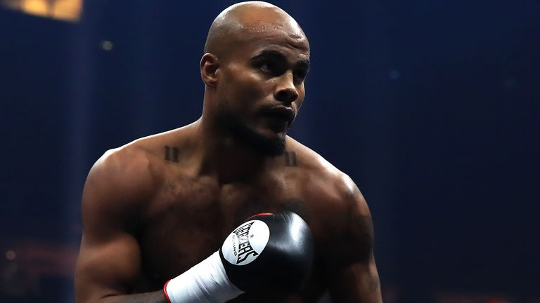 Sebastian Eubank pictured during a bout against Kamil Kulczvk