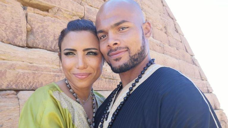 Sebastian Eubank with his wife Salma