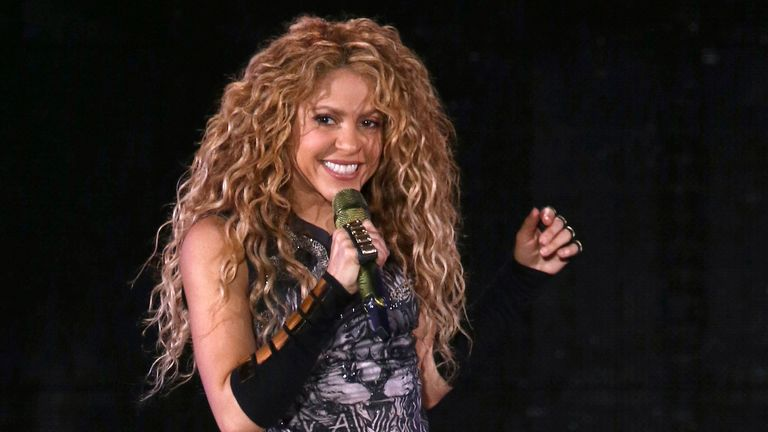 FILE - This Aug. 10, 2018 file photo shows Shakira performing in concert at Madison Square Garden in New York. Shakira says she will pay homage to Latin culture alongside Jennifer Lopez at the 2020 Pepsi Super Bowl Halftime Show in Miami. The Grammy winner, who turns 43 on Feb. 2, the day of the Super Bowl, is currently promoting a documentary and live concert album from her 2018 ...El Dorado World Tour,... to be released worldwide on Nov. 13. (Photo by Greg Allen/Invision/AP, File)