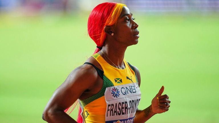 Dina Asher-Smith's main competition will be Jamaica's Shelly-Ann Fraser-Pryce. Pic: AP