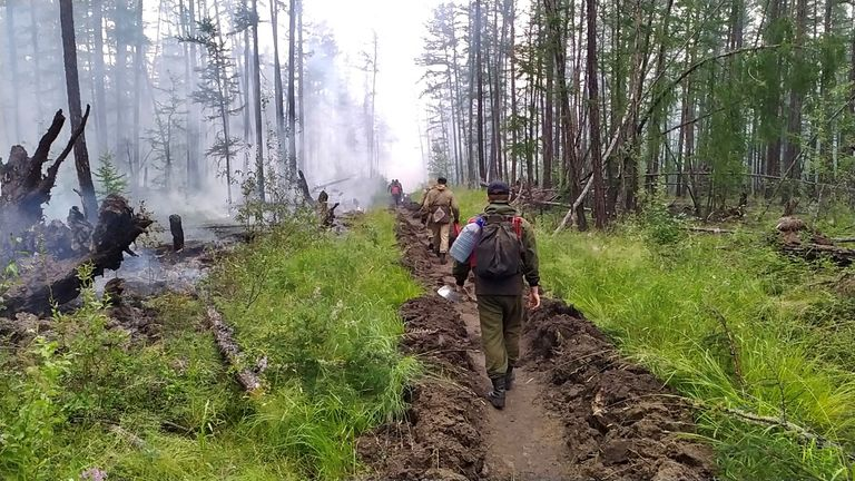 طی دو سال گذشته ، فصل آتش سوزی سیبری بسیار شدید بوده است.  عکس آناستازیا لئونوا