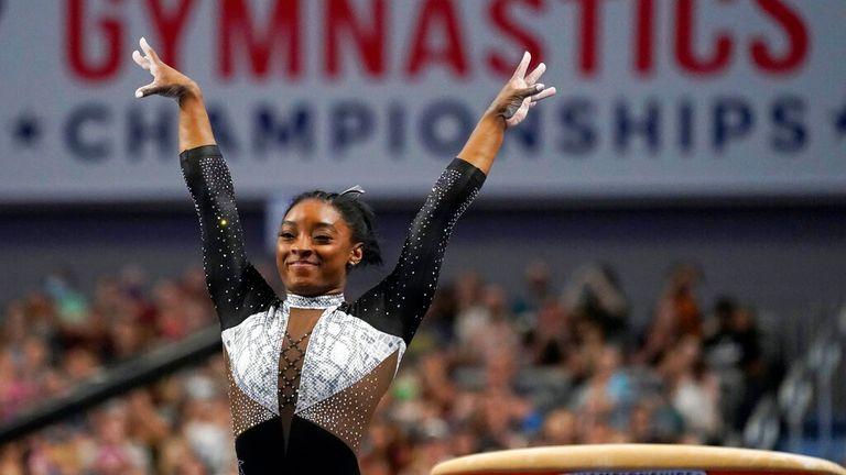 Team USA's Simone Biles. Pic: AP
