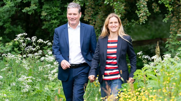 Labour Leader Sir Keir Starmer and Labour candidate Kim Leadbeater