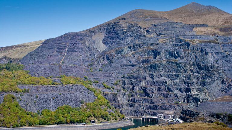 Slate mine in north Wales