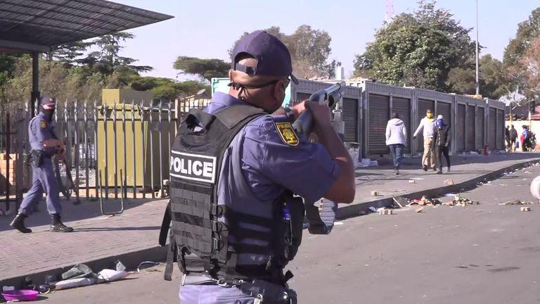 Riots in Johannesburg