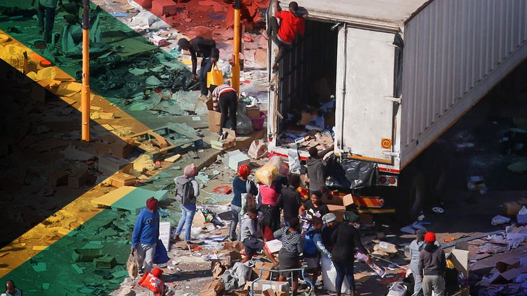More than 70 people have died in widespread unrest across South Africa
