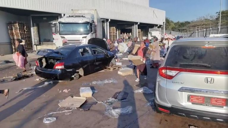 People have been looting stores across the poverty-stricken country