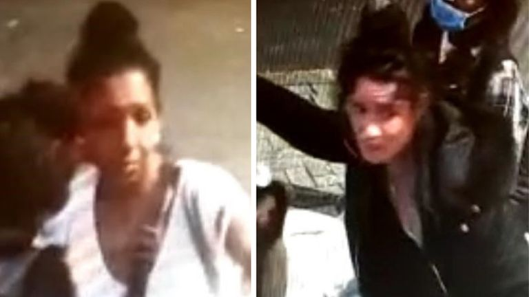 """Handout CCTV images issued by Metropolitan Police of two women they think could hold """"vital information"""" for detectives investigating the """"unexplained"""" death of a woman in west London."""