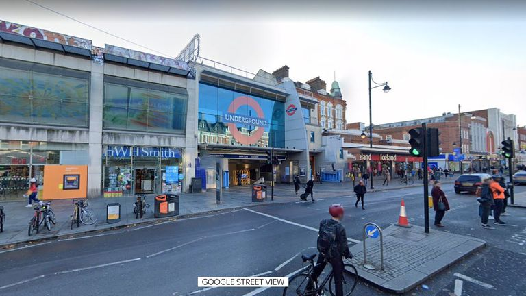The man was stabbed on Wednesday evening near Brixton Station, in south London