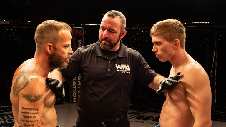 Stephen Dorff stars as an MMA fighter in Embattled. Pic: IFC Films