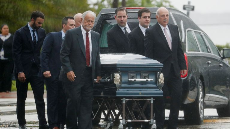 The first funerals have been held for victims of the collapse - for the Guara family at a Catholic church in Miami