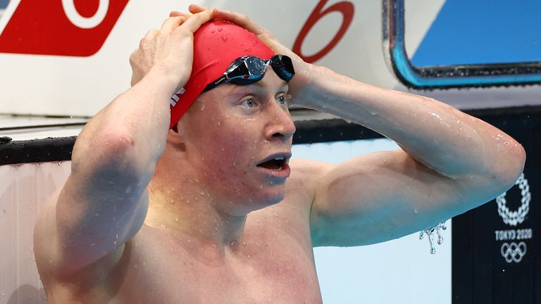 Tom Dean beat his fellow Brit by 0.04 seconds to take the gold medal