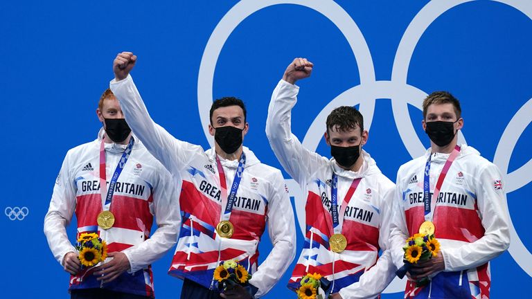 Team GB have won four medals in swimming event, three of which were golds