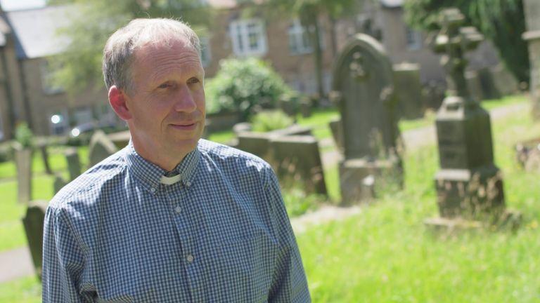 Reverend Martin Gilbert, the Eyam vicar