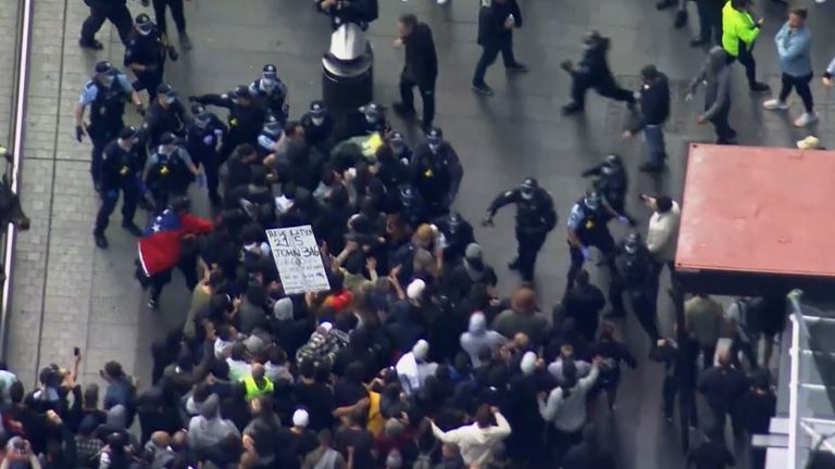 Thousands of protesters marched on the streets of Sydney against the latest round of COVID-19 lockdown restrictions.