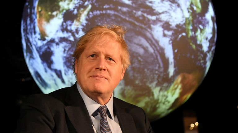 The Daily Climate Show looks at a story featuring UK's Prime Minister Boris johnson.
