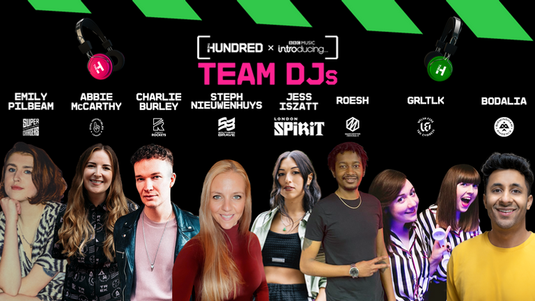 The Hundred will feature eight local DJs embedded into each of the eight new teams