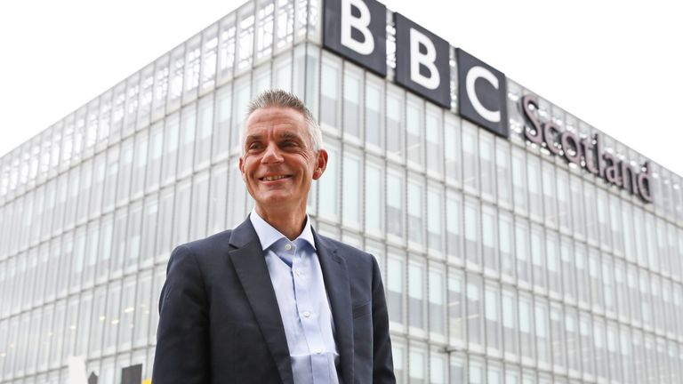 """EMBARGOED TO 0900 THURSDAY APRIL 22 File photo dated 01/09/20 of BBC's director-general Tim Davie who has said he would """"like to do more"""" in creating apprenticeship programmes to ensure people have the skills to work in the sector. Issue date: Thursday April 22, 2021."""