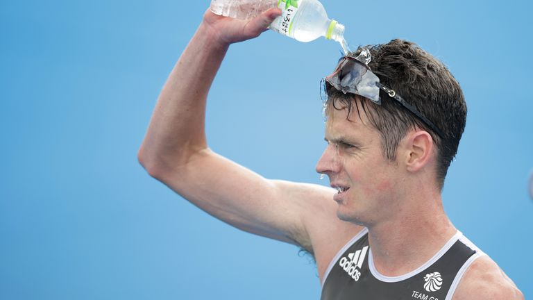 Jonny Brownlee finished fifth, after taking silver and bronze in Rio and London
