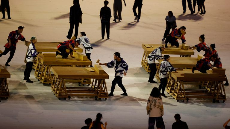 Carpenters performed during the opening ceremony