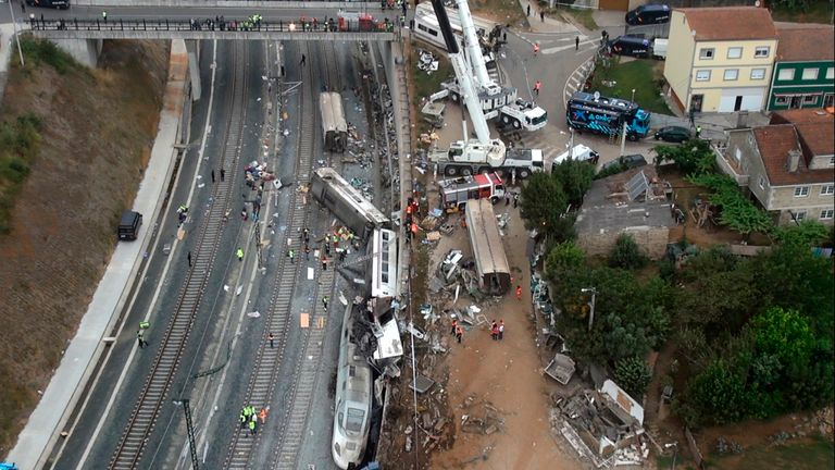 Eighty people died in the crash - Spain's worst rail disaster in decades
