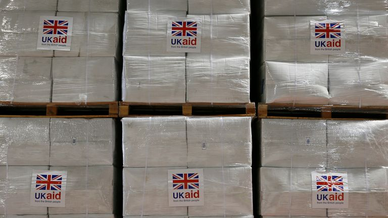 UK aid being sent to a crisis zone