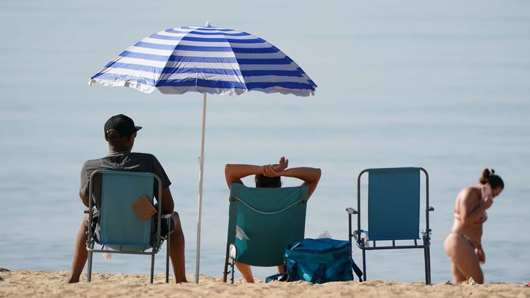 People headed to beaches again on Tuesday