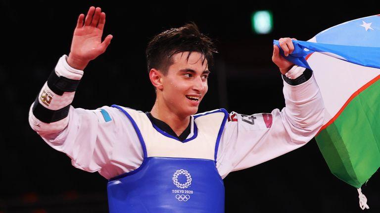 Rashitov, 19, celebrates his win